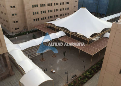 Conical Tent and Walkway Shades in King Abdulaziz University (KAU)