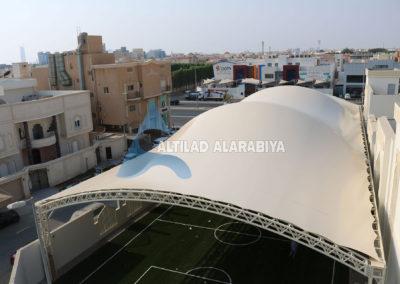 Football Stadium and Entrance in Dar Al Thkr School