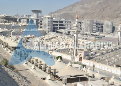 Dismantling & Installation of pilgrim's tents