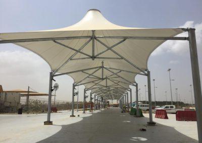 Walkway Shade in Hajj Terminal at King Abdul Aziz International Airport (KAIA-HTC)